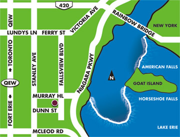 Directions to the Four Points by Sheraton Niagara Falls Fallsview Hotel